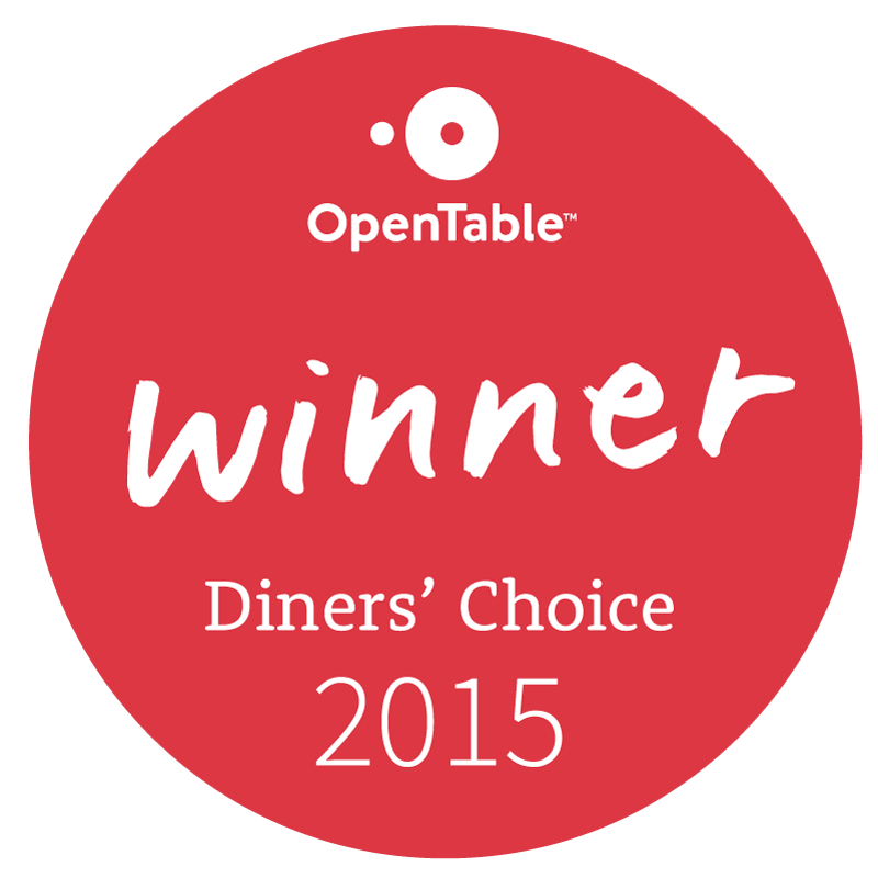Open Table Diner's Choice Award 2015