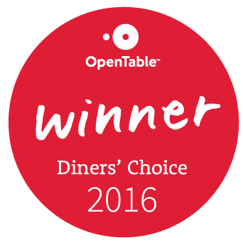 Open Table Diner's Choice Award 2016